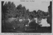 1 vue  - le canal, creusé par Louis de Montezan, intendant des Dombes, Commencé en juin 1758, il fut parcouru par la diligence la première fois le 20 décembre suivant (ouvre la visionneuse)