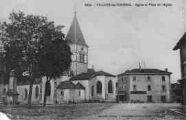 1 vue  - église et place de l'église (ouvre la visionneuse)