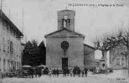 1 vue  - l'église et la place (ouvre la visionneuse)
