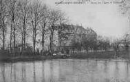 1 vue  - Saint-Georges - l'étang des Cygnes et le château (ouvre la visionneuse)