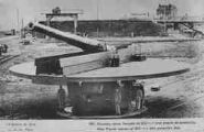 1 vue  - La Guerre de 1914 - 180 Nouveau canon français de 350 m/m avec plaque de protection (ouvre la visionneuse)