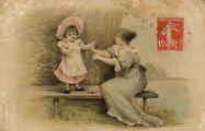 1 vue  - femme et enfant sur un banc (ouvre la visionneuse)