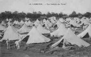 1 vue  - camp de la Valbonne - vue générale des tentes (ouvre la visionneuse)