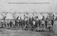1 vue  - camp de la Valbonne - les chasseurs sous les tentes (ouvre la visionneuse)