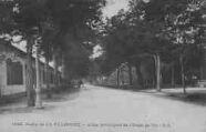1 vue  - camp de la Valbonne - allée principale de l'école de tir (ouvre la visionneuse)