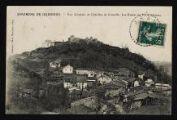 1 vue Légende inscrite sur la carte postale : environs de Jujurieux - Vue générale de Châtillon de Cornelle. Les Ruines du Vieux Château5 Fi 56-4