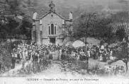 1 vue  - chapelle de Préau, un jour de Pèlerinage (ouvre la visionneuse)