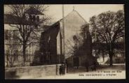 1 vue Légende inscrite sur la carte postale : L Eglise5 Fi 73-19