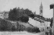 1 vue  - quartier de l'église et vieux château de la Pie (ouvre la visionneuse)