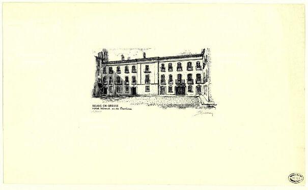 BOURG-EN-BRESSE Hôtel Riboud ou de Province / Pierre Carron.  fin XXe siècle
