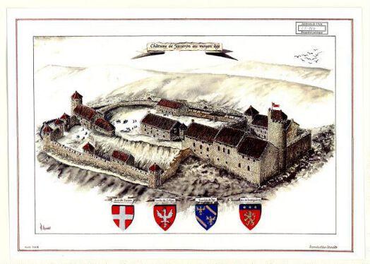 Château de Jasseron au moyen âge / Robert Charnet.  Courmangoux Charnet mars 2006-mars 2006